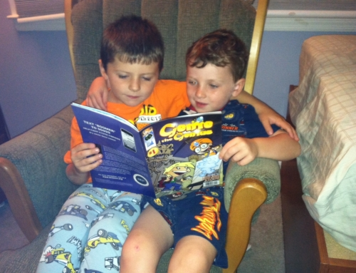 Kids reading Genie The Genius #1